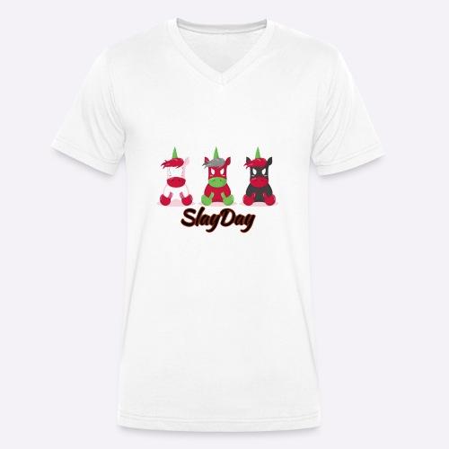SlayDay - Men's Organic V-Neck T-Shirt by Stanley & Stella