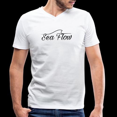 Sea Flow logo originale grande - T-shirt ecologica da uomo con scollo a V di Stanley & Stella