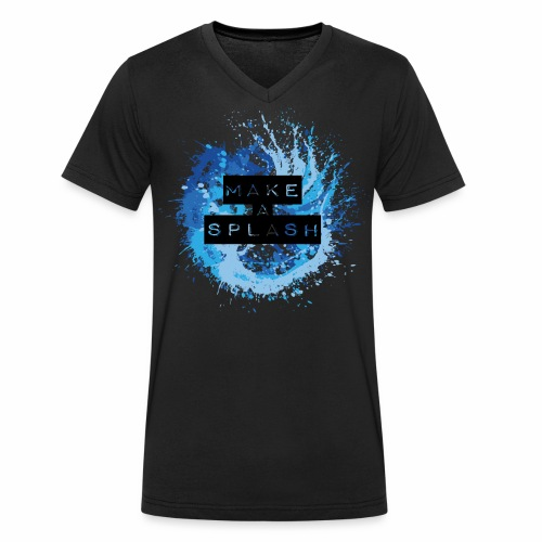 Make a Splash - Aquarell Design in Blau - Männer Bio-T-Shirt mit V-Ausschnitt von Stanley & Stella