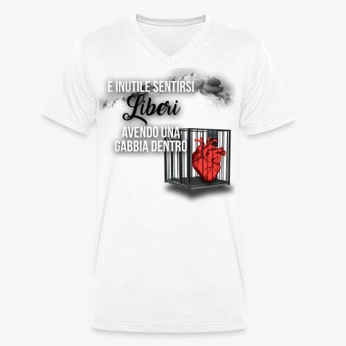 Rap Art ITA BRAND - T-shirt ecologica da uomo con scollo a V di Stanley & Stella