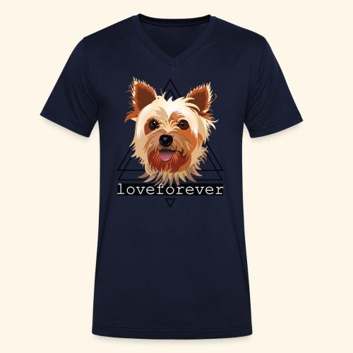 YORKIE LOVE FOREVER - Camiseta ecológica hombre con cuello de pico de Stanley & Stella