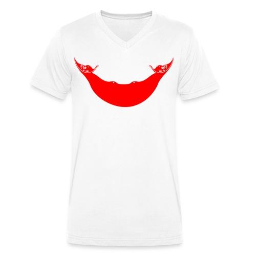 Bandera Rapa Nui - Camiseta ecológica hombre con cuello de pico de Stanley & Stella