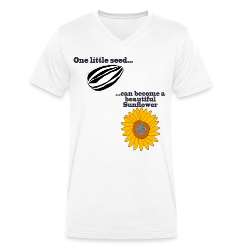 One little seed - Men's Organic V-Neck T-Shirt by Stanley & Stella