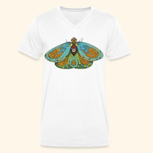 Psychedelic butterfly - T-shirt ecologica da uomo con scollo a V di Stanley & Stella