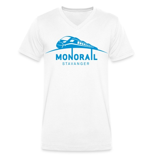 Monorail_Sort - Økologisk T-skjorte med V-hals for menn fra Stanley & Stella