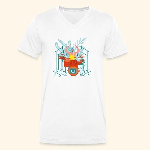 DRUMS PLS - Männer Bio-T-Shirt mit V-Ausschnitt von Stanley & Stella