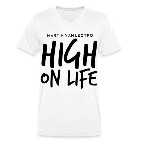 Martin Van Lectro - High on Life - Merch. - Männer Bio-T-Shirt mit V-Ausschnitt von Stanley & Stella