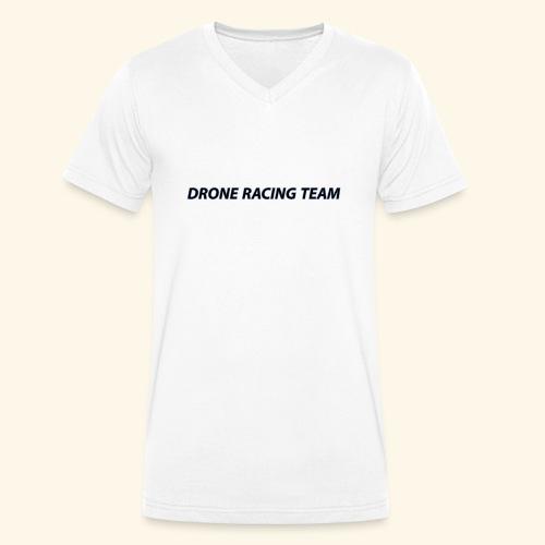 drone racing team - Camiseta ecológica hombre con cuello de pico de Stanley & Stella
