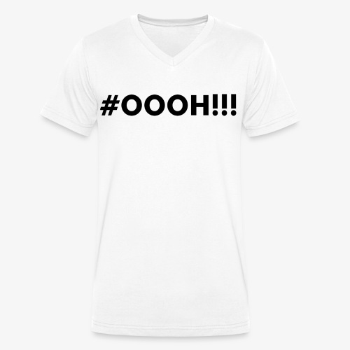 #OOOH!!! Black - Mannen bio T-shirt met V-hals van Stanley & Stella