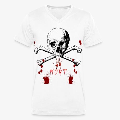 Mort design avec sang - T-shirt bio col V Stanley & Stella Homme