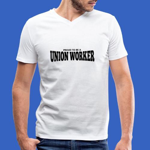 Union Worker - Männer Bio-T-Shirt mit V-Ausschnitt von Stanley & Stella
