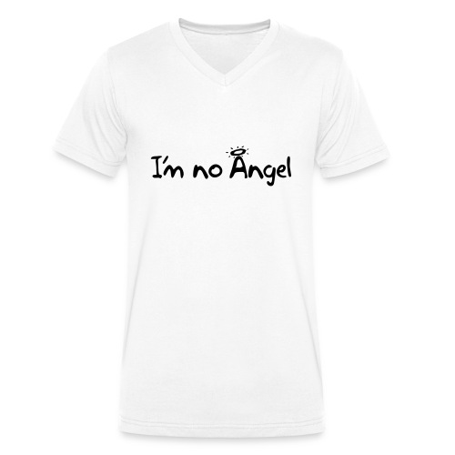 No Angel text-1 - Men's Organic V-Neck T-Shirt by Stanley & Stella
