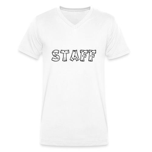 STAFF - T-shirt ecologica da uomo con scollo a V di Stanley & Stella