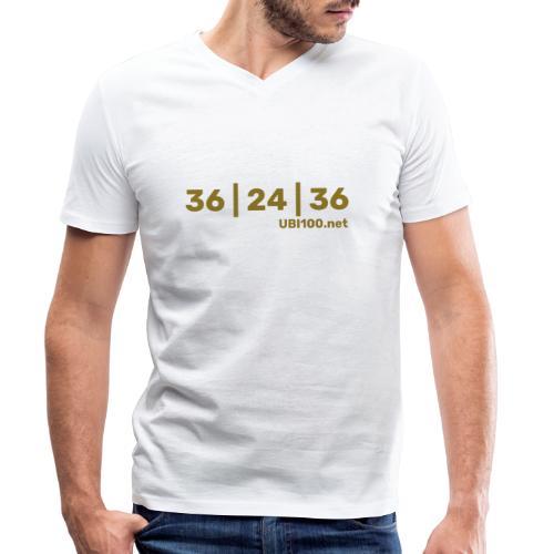 36 | 24 | 36 - UBI - Mannen bio T-shirt met V-hals van Stanley & Stella
