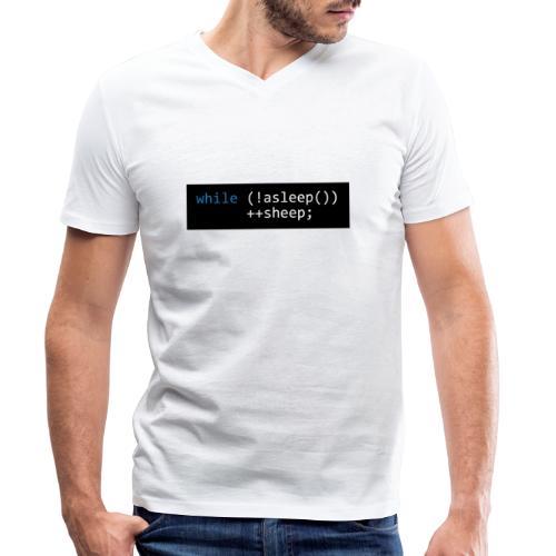 while (!asleep()) ++sheep; - Mannen bio T-shirt met V-hals van Stanley & Stella