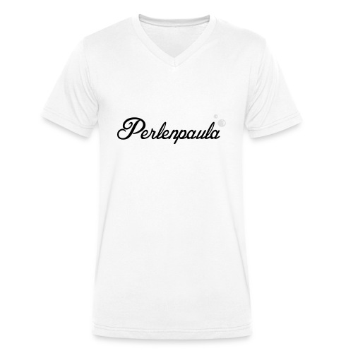 Perlenpaula - Männer Bio-T-Shirt mit V-Ausschnitt von Stanley & Stella
