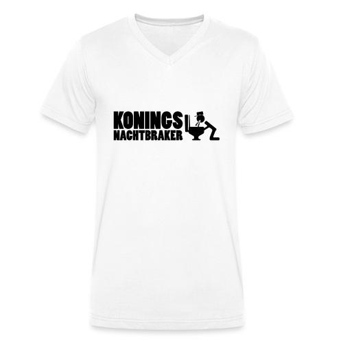 Koningsnachtbraker - Mannen bio T-shirt met V-hals van Stanley & Stella