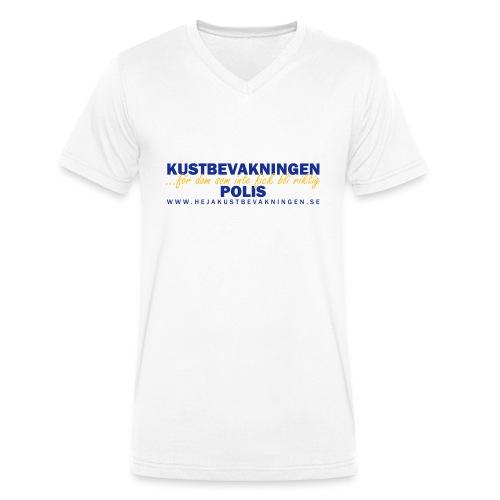 KBV För dom som inte fick bli riktig polis - Ekologisk T-shirt med V-ringning herr från Stanley & Stella