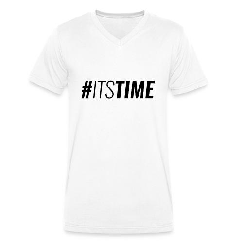 itstime - T-shirt ecologica da uomo con scollo a V di Stanley & Stella