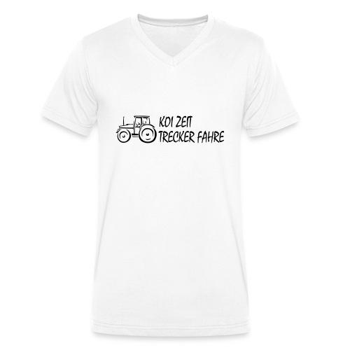 KoiZeit - Trecker - Männer Bio-T-Shirt mit V-Ausschnitt von Stanley & Stella