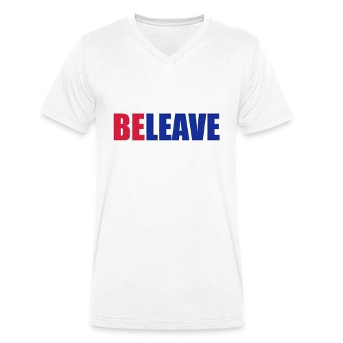 BeLeave - Men's Organic V-Neck T-Shirt by Stanley & Stella