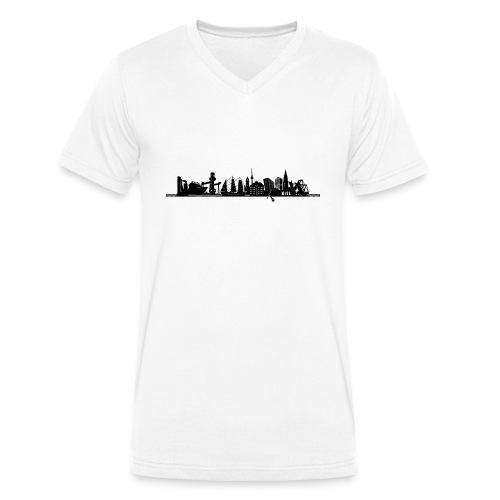 KIEL SILHOUETTE - Männer Bio-T-Shirt mit V-Ausschnitt von Stanley & Stella