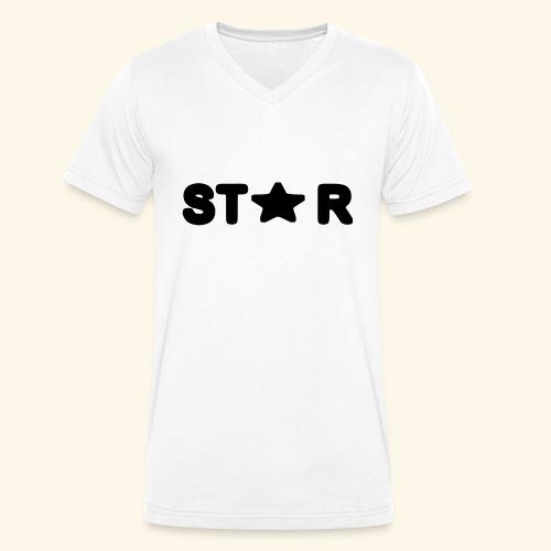 Star of Stars - Men's Organic V-Neck T-Shirt by Stanley & Stella
