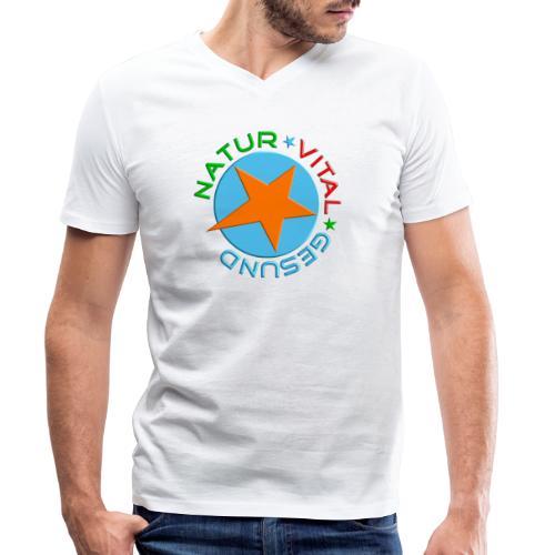 Natur-vital-gesund - Männer Bio-T-Shirt mit V-Ausschnitt von Stanley & Stella