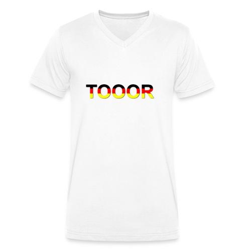 TOOOR-Schatten-transparen - Männer Bio-T-Shirt mit V-Ausschnitt von Stanley & Stella