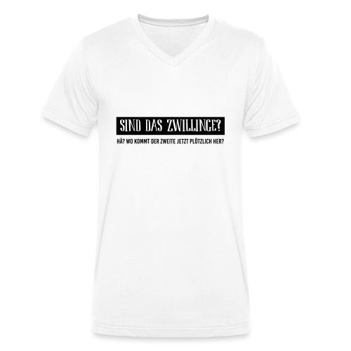 BIO Stoffbeutel: Sind das Zwillinge? - Männer Bio-T-Shirt mit V-Ausschnitt von Stanley & Stella
