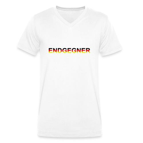 ENDGEGNER - Männer Bio-T-Shirt mit V-Ausschnitt von Stanley & Stella