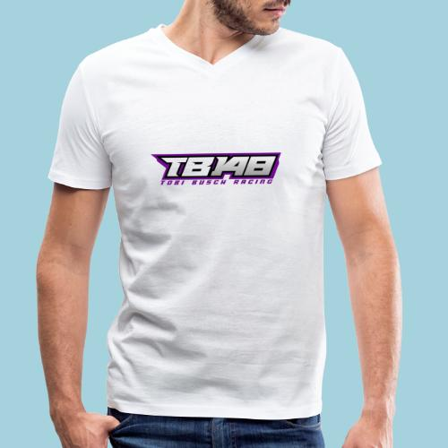 Tob Logo Lila - Männer Bio-T-Shirt mit V-Ausschnitt von Stanley & Stella