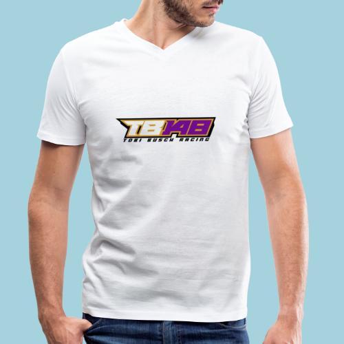 Tobi Logo schwarz - Männer Bio-T-Shirt mit V-Ausschnitt von Stanley & Stella