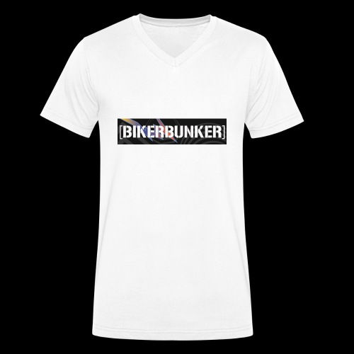 Bikergan - Männer Bio-T-Shirt mit V-Ausschnitt von Stanley & Stella
