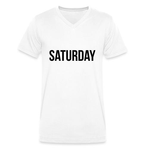 Saturday - Men's Organic V-Neck T-Shirt by Stanley & Stella