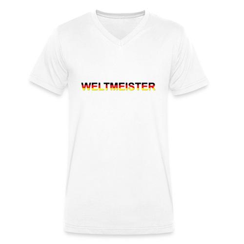 WELTMEISTER - Männer Bio-T-Shirt mit V-Ausschnitt von Stanley & Stella
