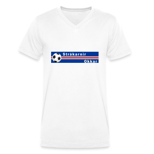 Island strákarnir Okkar - Men's Organic V-Neck T-Shirt by Stanley & Stella