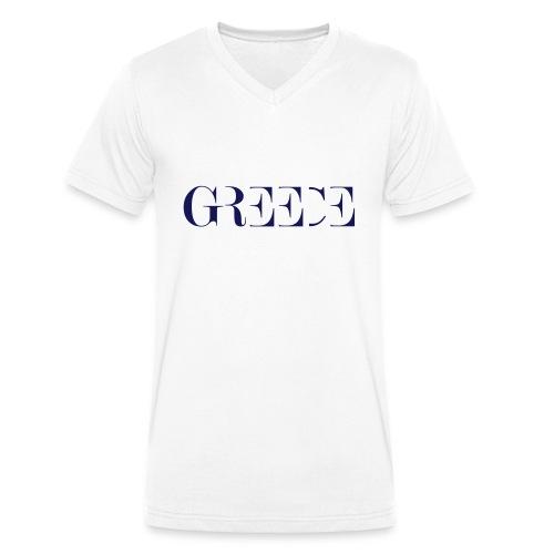 GREECE - Männer Bio-T-Shirt mit V-Ausschnitt von Stanley & Stella