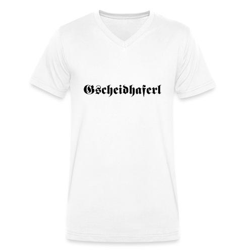 Gscheidhaferl - Männer Bio-T-Shirt mit V-Ausschnitt von Stanley & Stella