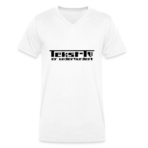 Tekst-tv er undervurdert! - Økologisk T-skjorte med V-hals for menn fra Stanley & Stella
