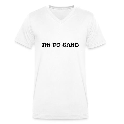 IM PO SAND Unterwäsche - Männer Bio-T-Shirt mit V-Ausschnitt von Stanley & Stella