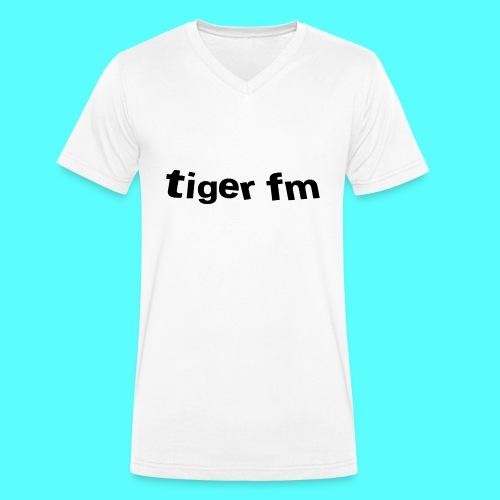 tiger fm logo - Männer Bio-T-Shirt mit V-Ausschnitt von Stanley & Stella