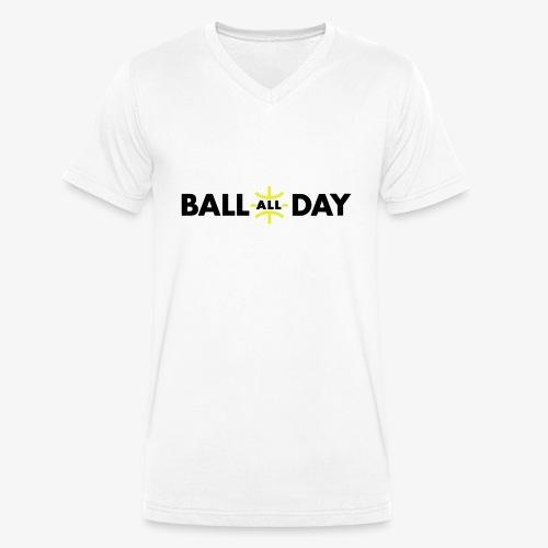 BALL ALL DAY Shirt - White - Männer Bio-T-Shirt mit V-Ausschnitt von Stanley & Stella