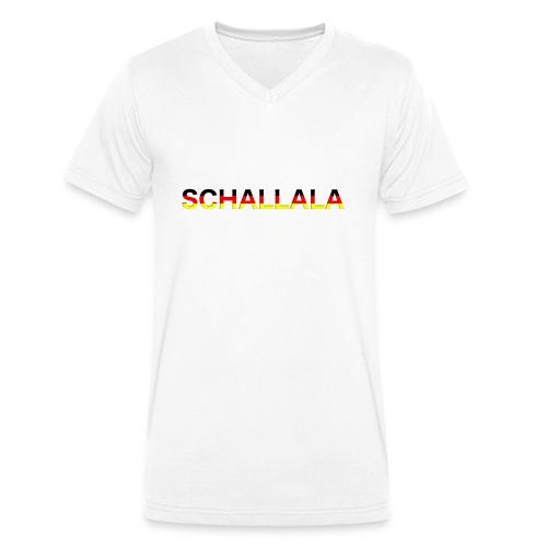 Schallala - Männer Bio-T-Shirt mit V-Ausschnitt von Stanley & Stella