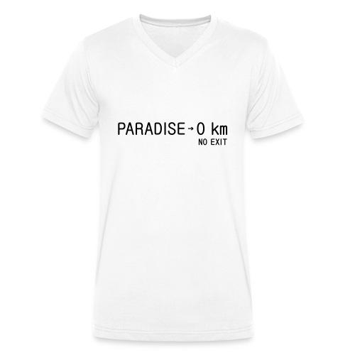 paradise0km - Männer Bio-T-Shirt mit V-Ausschnitt von Stanley & Stella