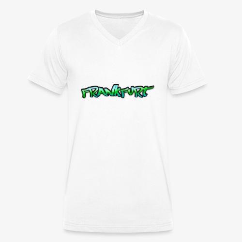Gangster Frankfurt - Männer Bio-T-Shirt mit V-Ausschnitt von Stanley & Stella