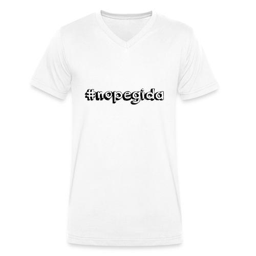 nopegida - Männer Bio-T-Shirt mit V-Ausschnitt von Stanley & Stella