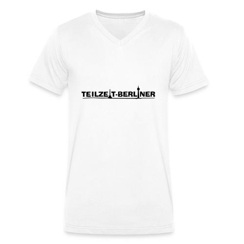 Teilzeit-Berliner - Männer Bio-T-Shirt mit V-Ausschnitt von Stanley & Stella