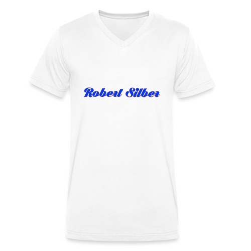 Robert Silber - Männer Bio-T-Shirt mit V-Ausschnitt von Stanley & Stella