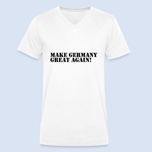 Make Germany Great Again - Donald Trump Design - Männer Bio-T-Shirt mit V-Ausschnitt von Stanley & Stella